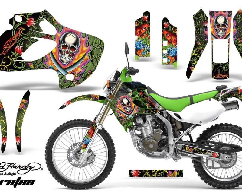 AMR Racing Dirt Bike Graphics Kit Decal Sticker Wrap For Kawasaki KLX250 1998-2003áEDHP GREEN