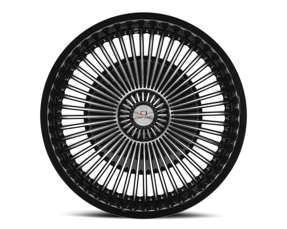 Cavallo CLV-41 Wheel 22x8.5 5x112 5x114.3 38mm Gloss Black Machined