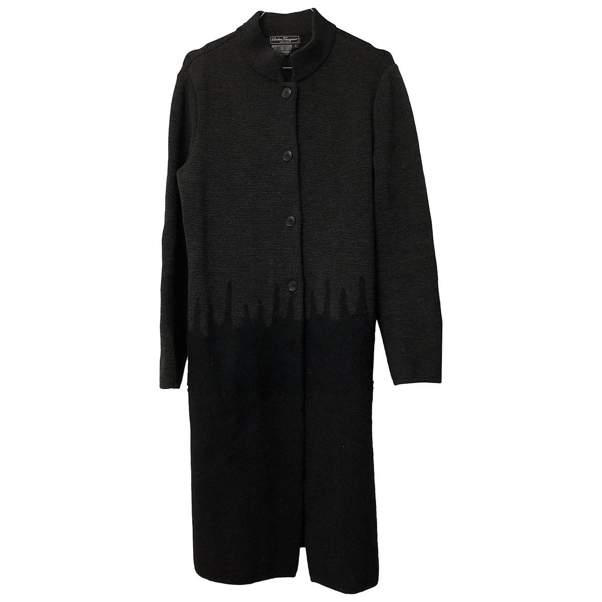 Salvatore Ferragamo \N Anthracite Wool coat for Women S International