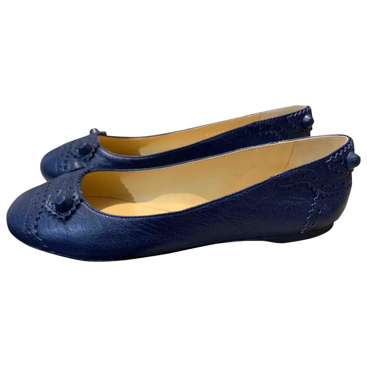 Balenciaga - Ballerines   pour femme en cuir - bleu
