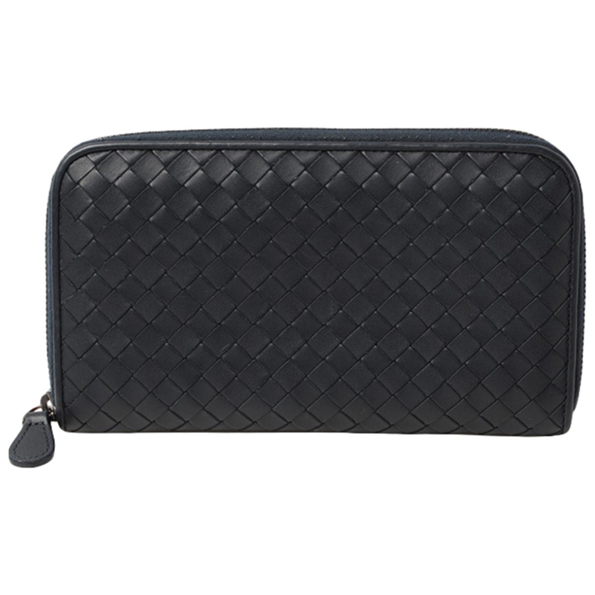 Bottega Veneta Intrecciato Navy Leather wallet for Women \N