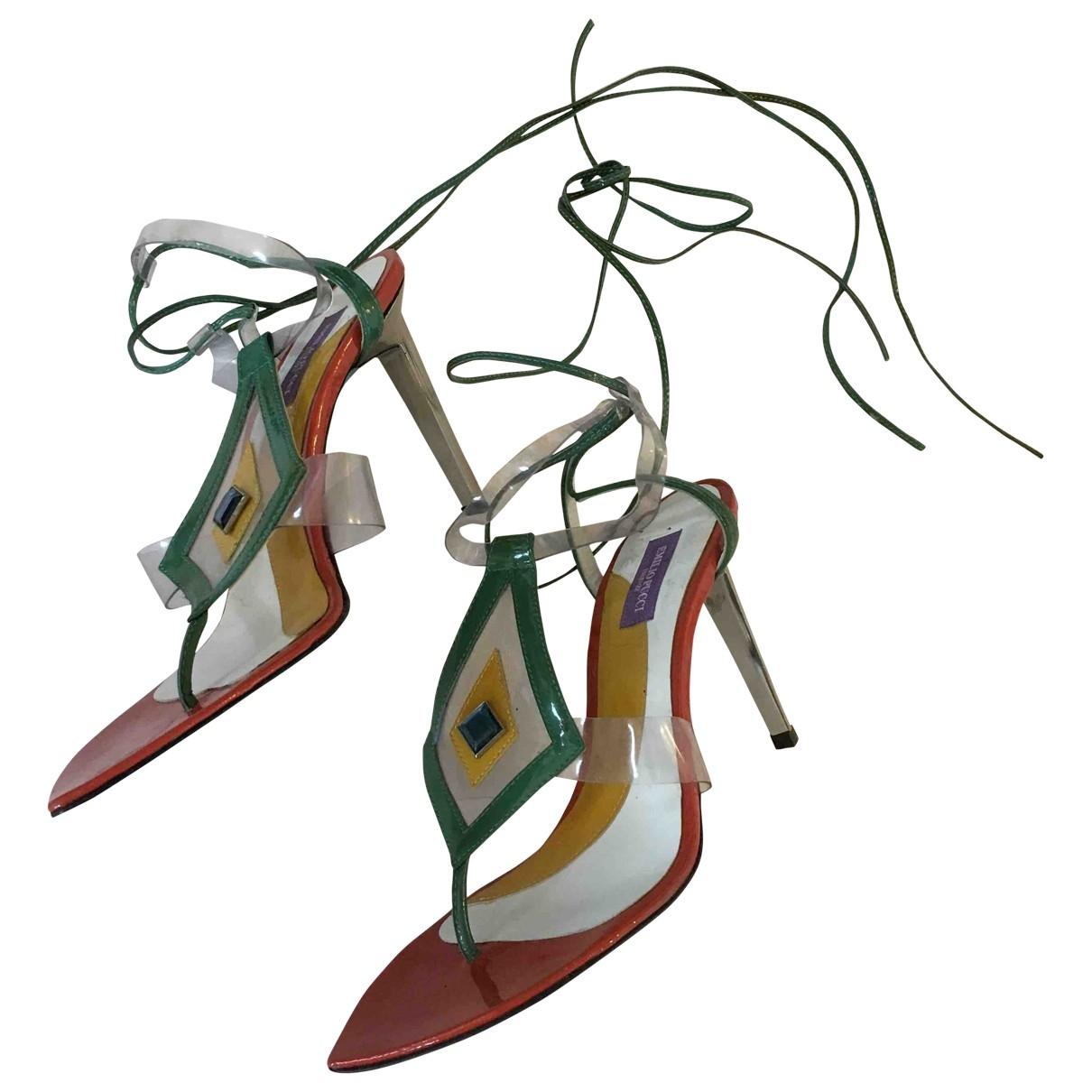 Sandalias de Charol Emilio Pucci