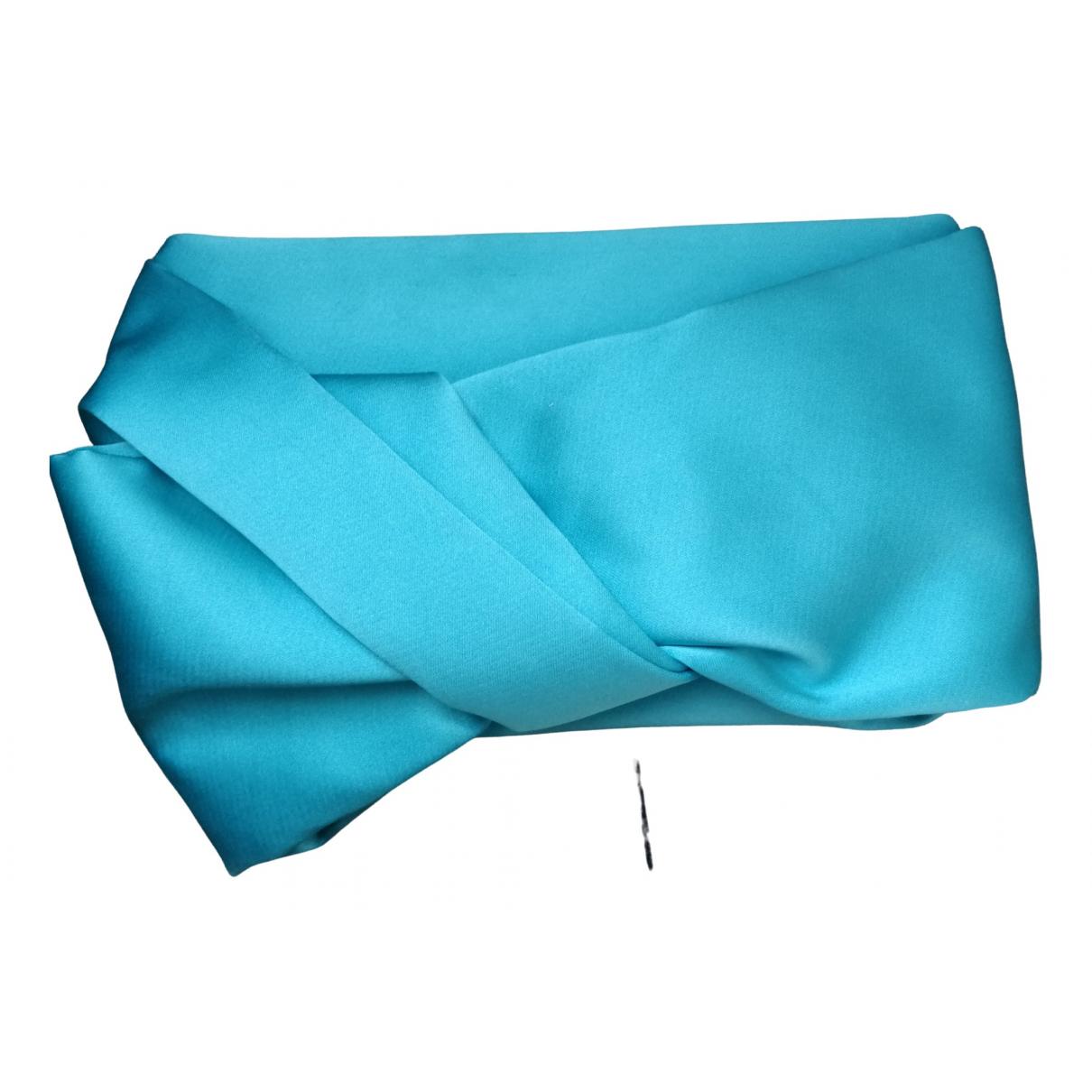 Paule Ka \N Turquoise Silk Clutch bag for Women \N