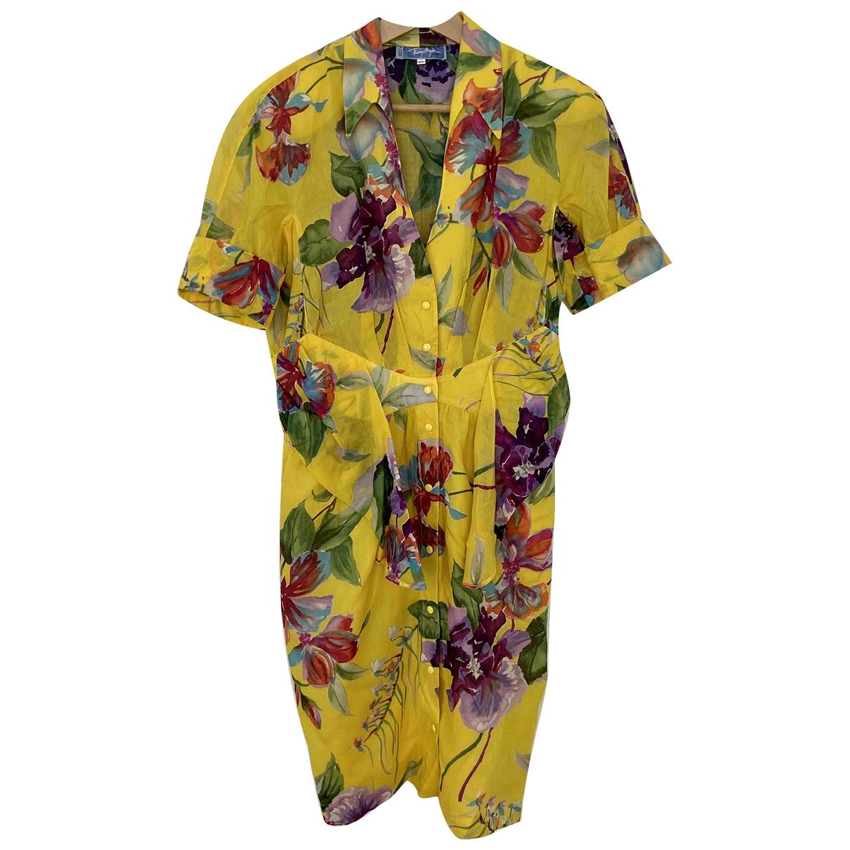 Thierry Mugler - Robe   pour femme en coton - jaune