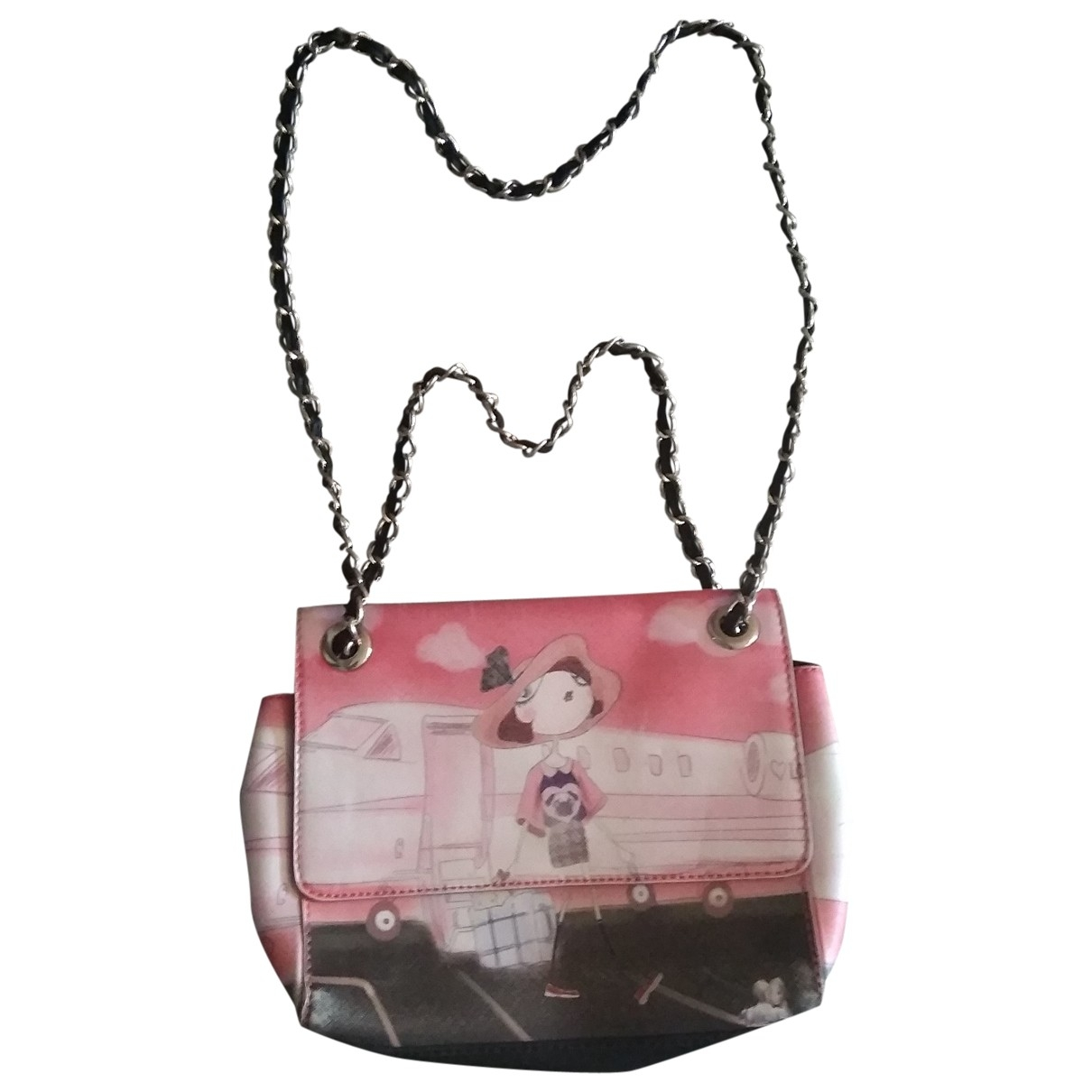 Moschino Love \N Pink Leather handbag for Women \N