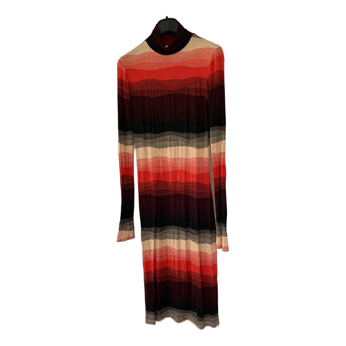 Rodebjer \N Kleid in  Bordeauxrot Viskose