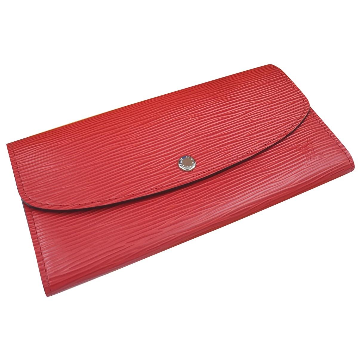 Louis Vuitton Emilie Portemonnaie in  Rot Leder