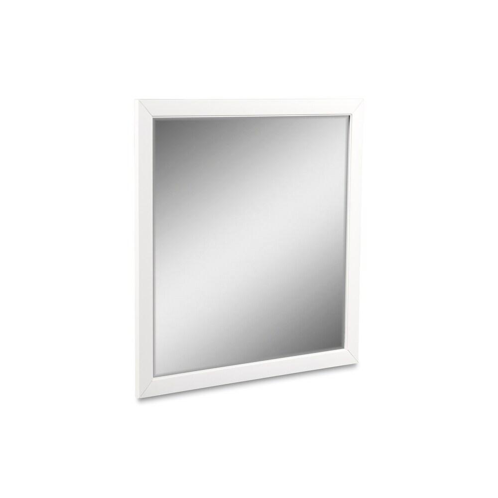 New Classic Selena Mirror, White (Rectangular - Wood - Traditional)