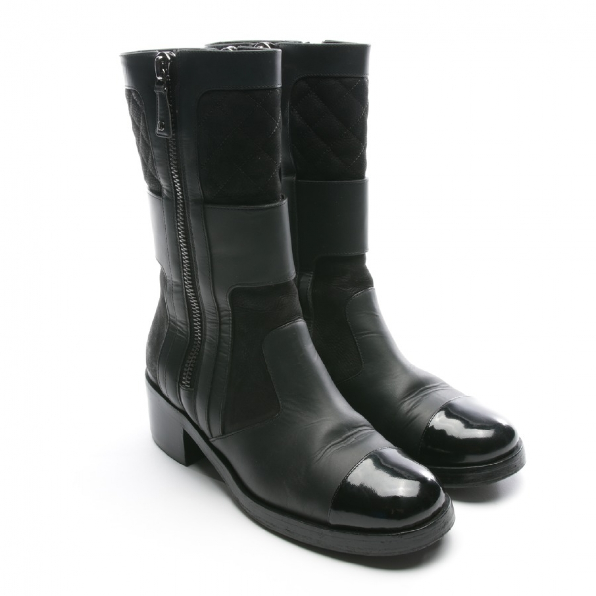 Chanel \N Black Leather Ankle boots for Women 39.5 EU