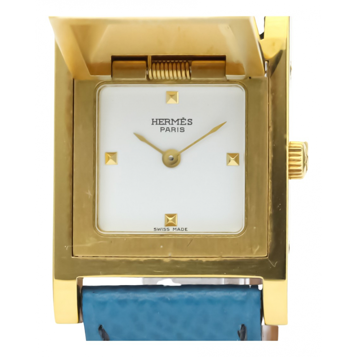 Hermès Médor White Gold plated watch for Women N