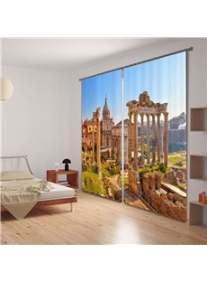 3D Ancient Rome Scenic Spot Printed Living Room Custom Blackout Curtain