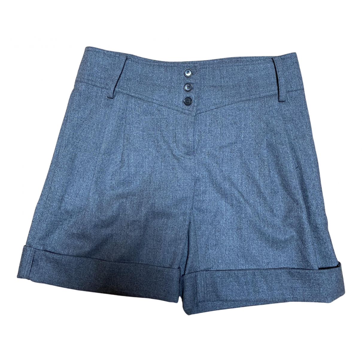 Patrizia Pepe \N Shorts in  Grau Wolle