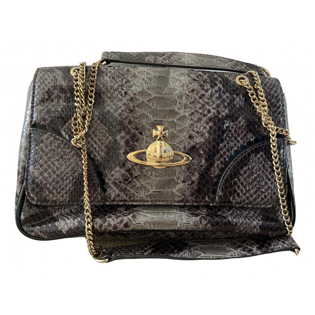 Vivienne Westwood \N Grey Leather handbag for Women \N