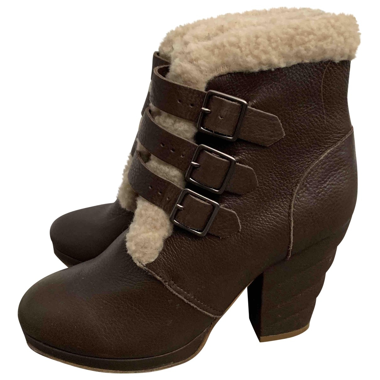 See By Chloé \N Brown Leather Boots for Women 37.5 EU