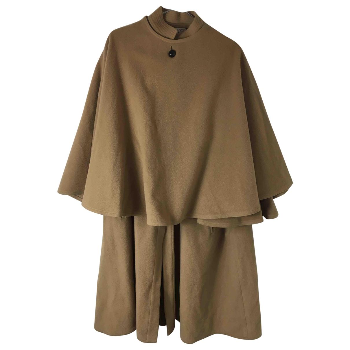 Gianfranco Ferre - Manteau   pour femme en laine - camel