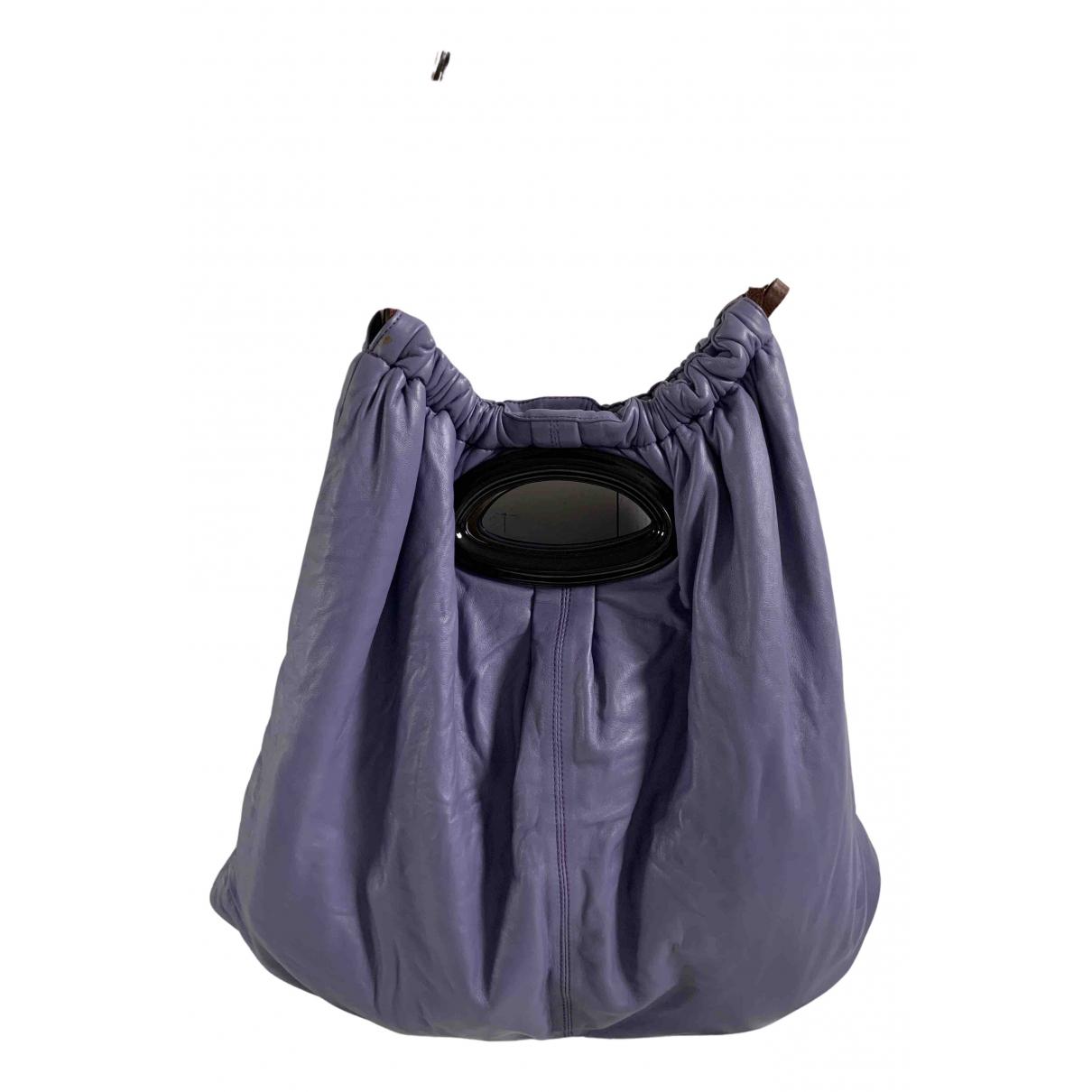 Marni - Sac a main   pour femme en cuir - violet