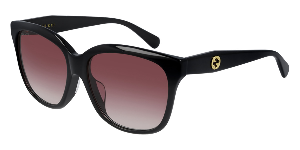 Gucci GG0800SA Asian Fit 002 Women's Sunglasses Black Size 56 - Free RX Lenses