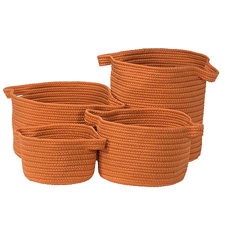 Colonial Mills Nantucket Solids Basket, One Size , Orange