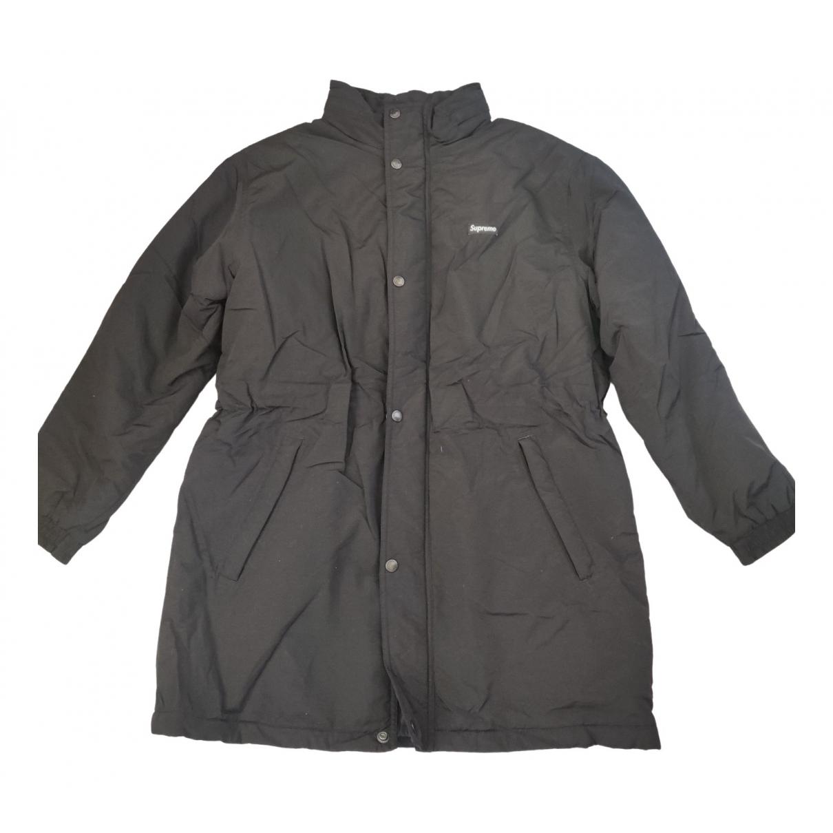 Supreme - Manteau   pour homme - noir