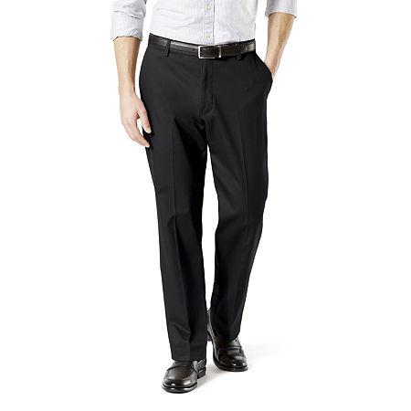 Dockers Big & Tall Classic Fit Signature Khaki Lux Cotton Stretch Pants D3, 52 30, Black
