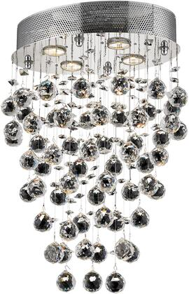 V2022D16C/RC 2022 Galaxy Collection Pendant Ceiling Light L:16 In W:11.5In H:24In Lt:4 Chrome Finish (Royal Cut