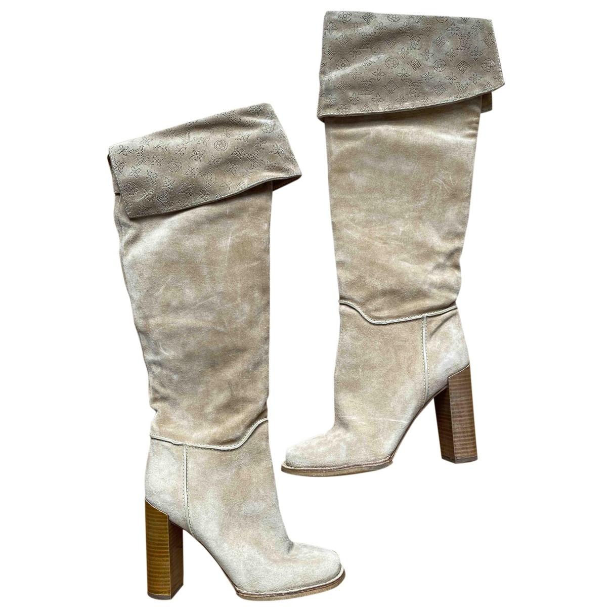 Louis Vuitton \N Beige Suede Boots for Women 37 EU
