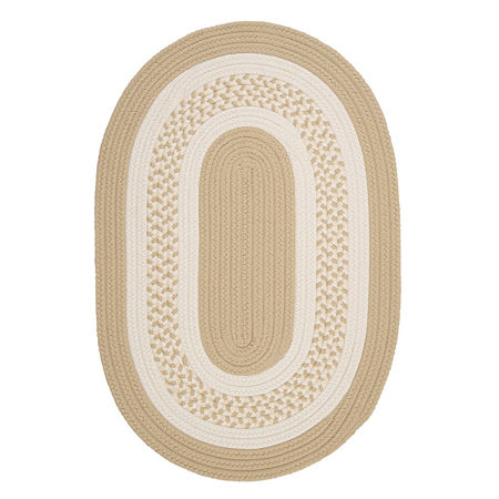 Colonial Mills Alcott Cove Braided Oval Reversible Indoor/Outdoor Rugs, One Size , Beige