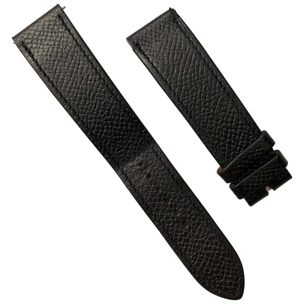 Hermès \N Black Leather watch for Women \N