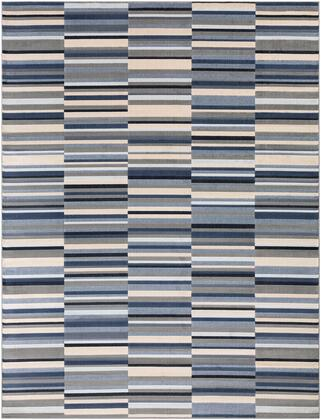 City CIT-2326 710 x 103 Rectangle Modern Rug in Taupe  Charcoal  Khaki  Light Gray