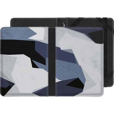 tolino shine 2 HD eBook Reader Huelle - Geometric Camo Blue von caseable Designs