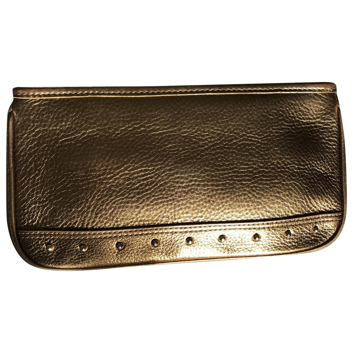 Harrods \N Gold Leather Clutch bag for Women \N