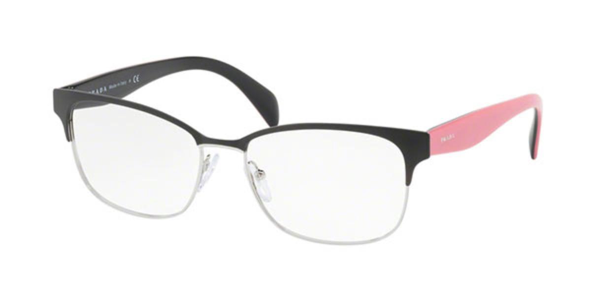 Prada PR65RV 1BO1O1 Women's Glasses Black Size 53 - Free Lenses - HSA/FSA Insurance - Blue Light Block Available
