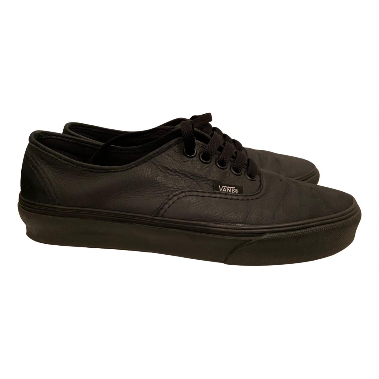 Vans N Black Leather Trainers for Women 39 EU