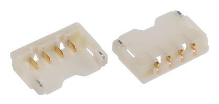 JST , ACH, 4 Way, 1 Row, Right Angle PCB Header (5)