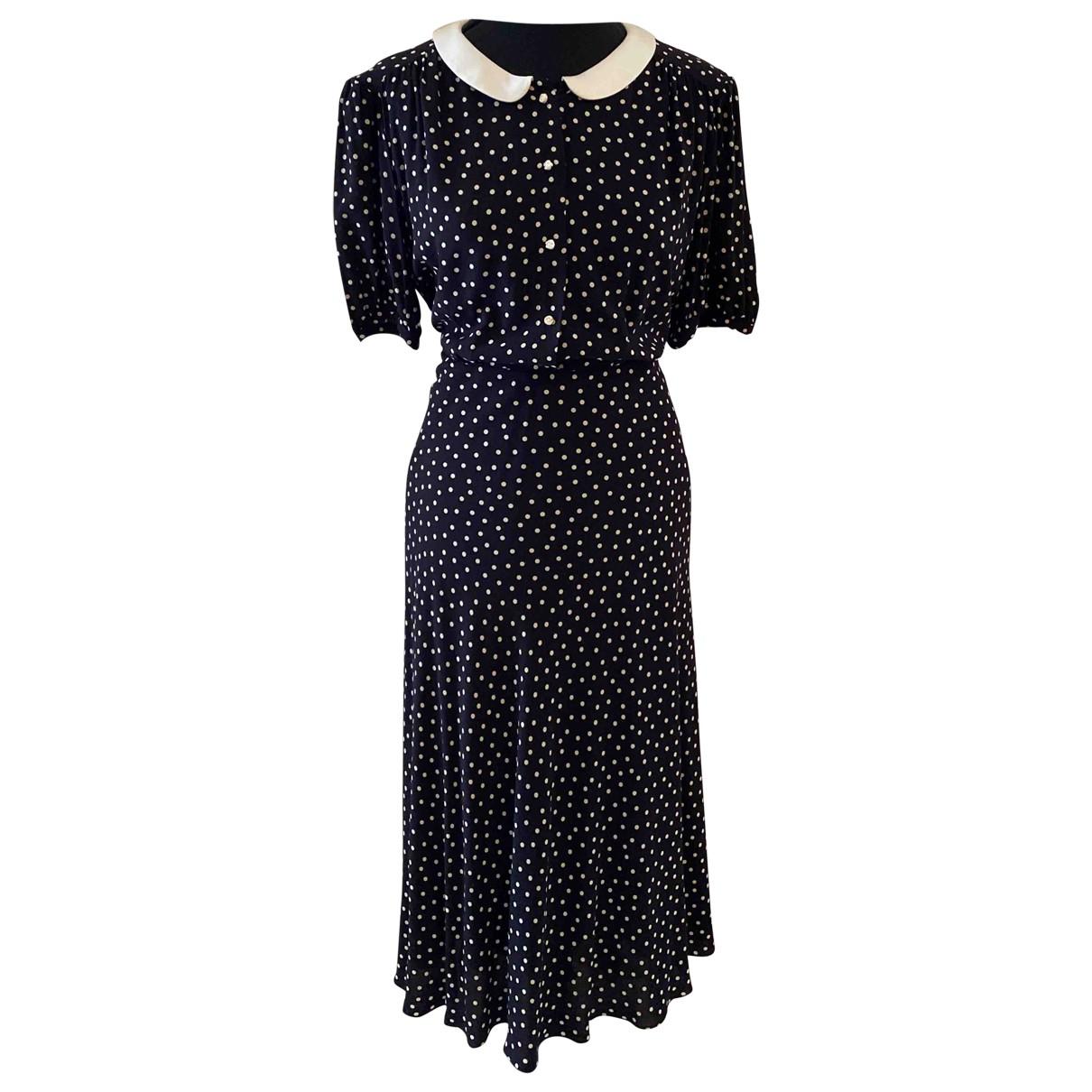 Saint Laurent N Black Silk dress for Women 42 FR