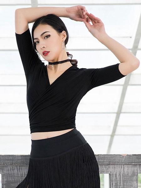 Milanoo Dance Costumes Latin Dancer Dresses Women Tassels Short Skirt Dancing Wears Outfit Halloween