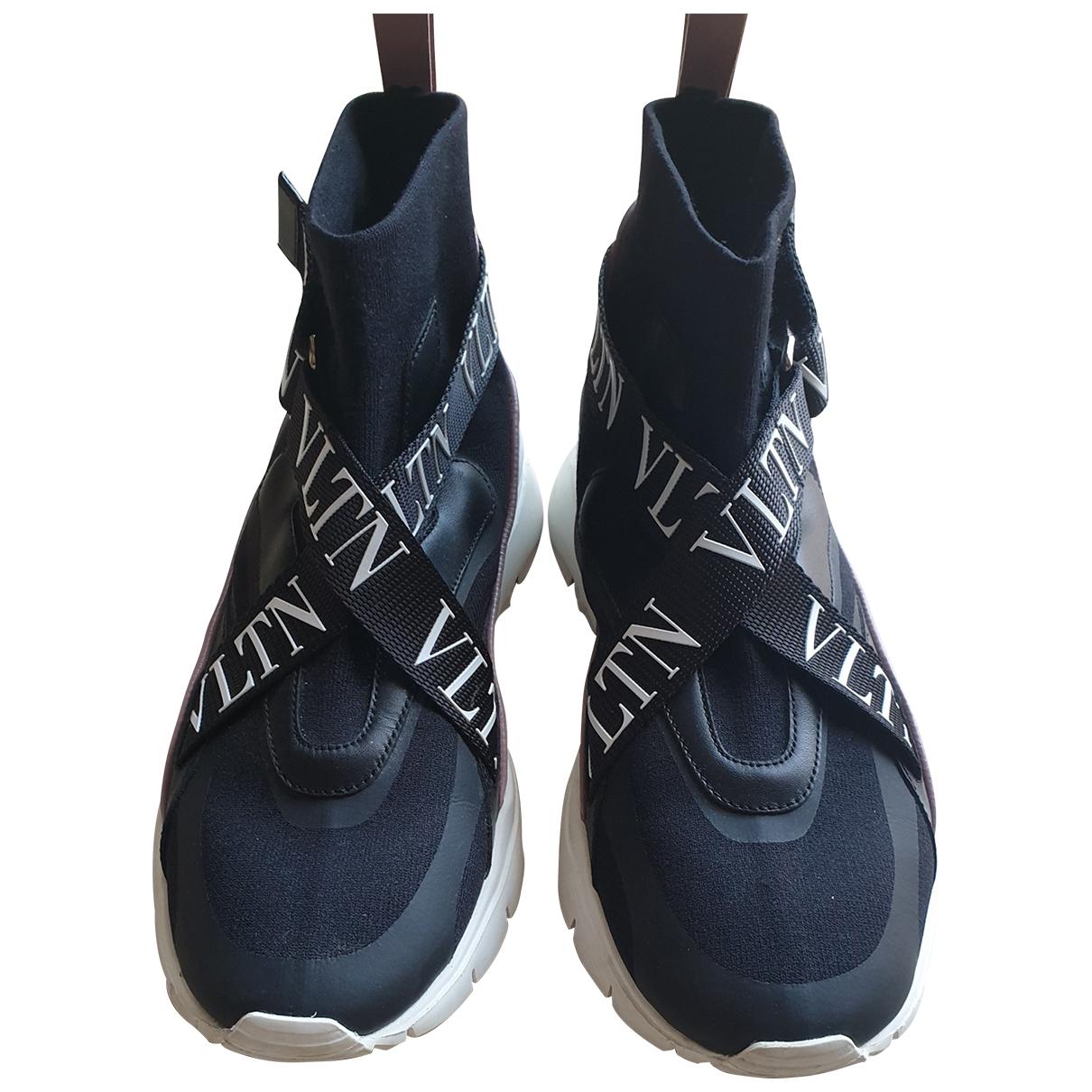Valentino Garavani - Baskets Heroes VLTN pour femme en toile - noir