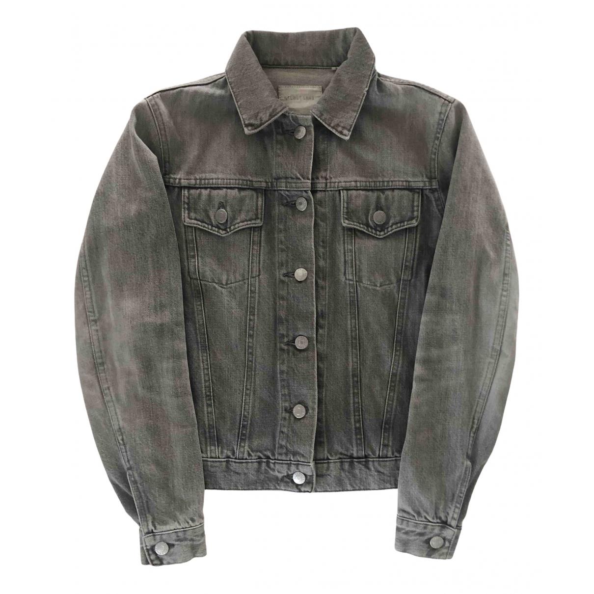 Helmut Lang \N Grey Denim - Jeans jacket for Women 40 FR