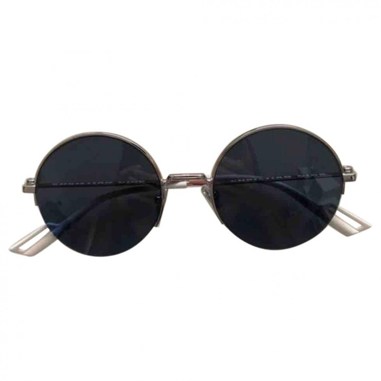 Dior \N Silver Metal Sunglasses for Men \N