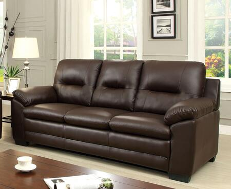 Parma Collection CM6324BR-SF Sofa with Large Padded Arms  Plush Cushions  Leatherette and Split Back in