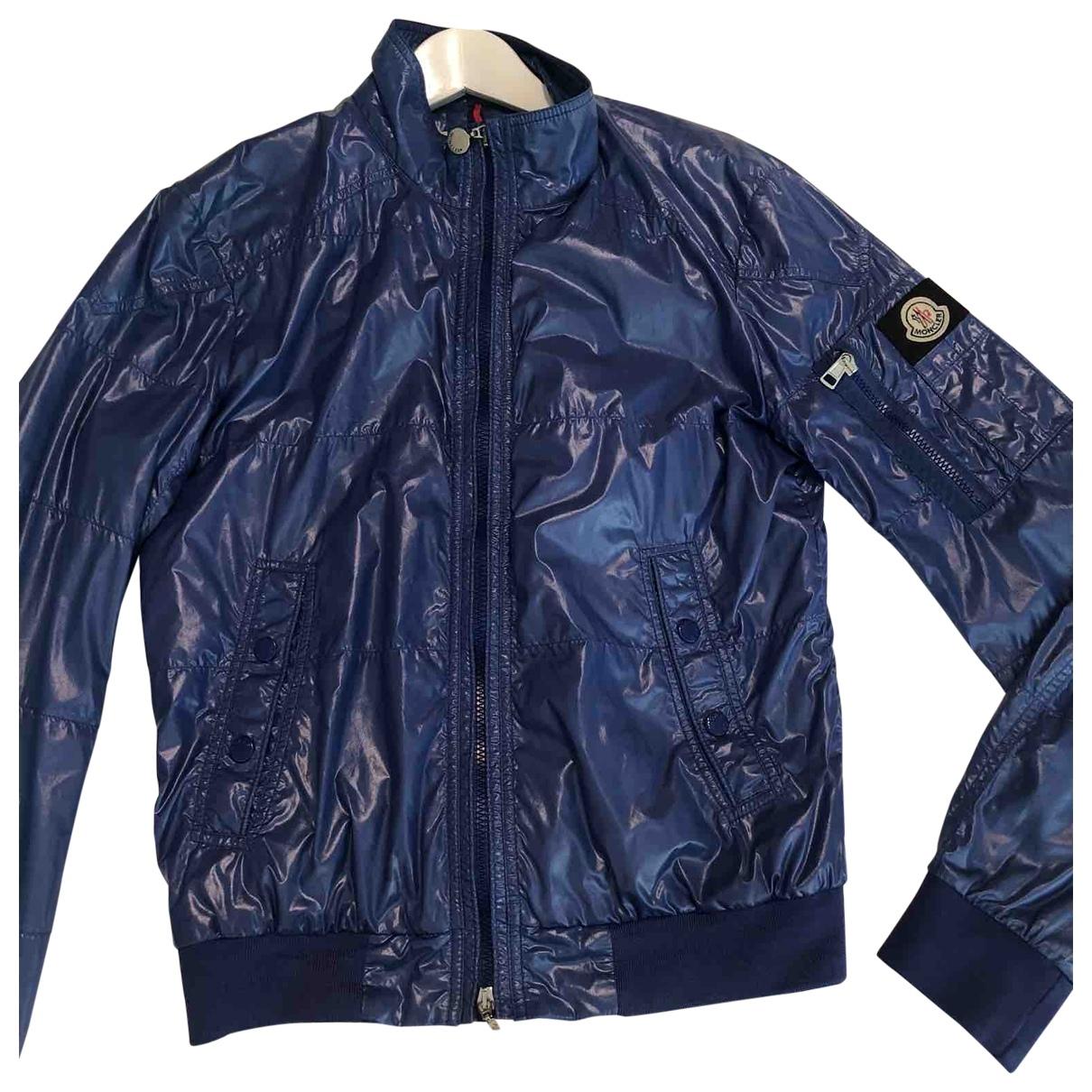 Moncler Classic Jacke in  Blau Synthetik