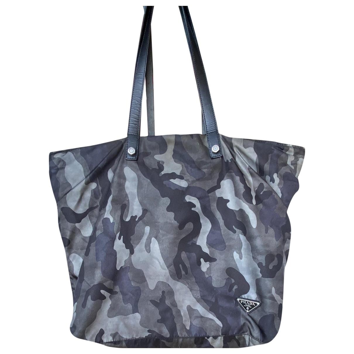 Prada N Grey Cloth handbag for Women N