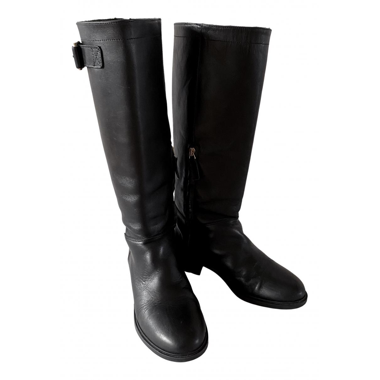 Massimo Dutti \N Stiefel in  Schwarz Leder