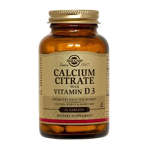 Calcium Citrate with Vitamin D3 Tablets 60 Tabs by Solgar