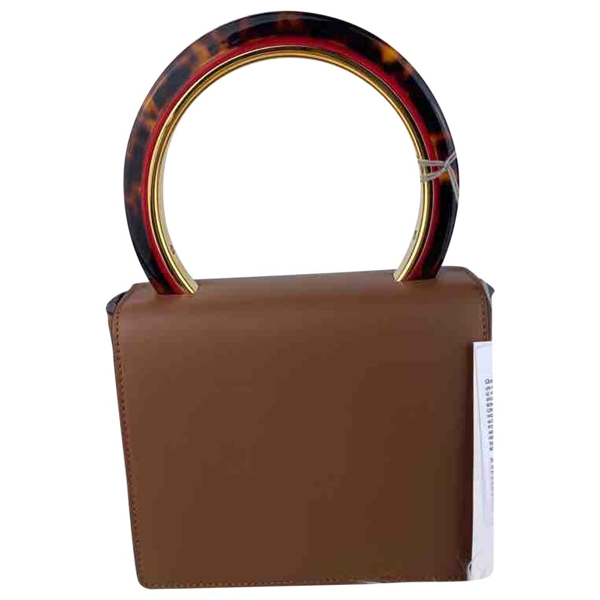 Marni Pannier Handtasche in  Braun Leder