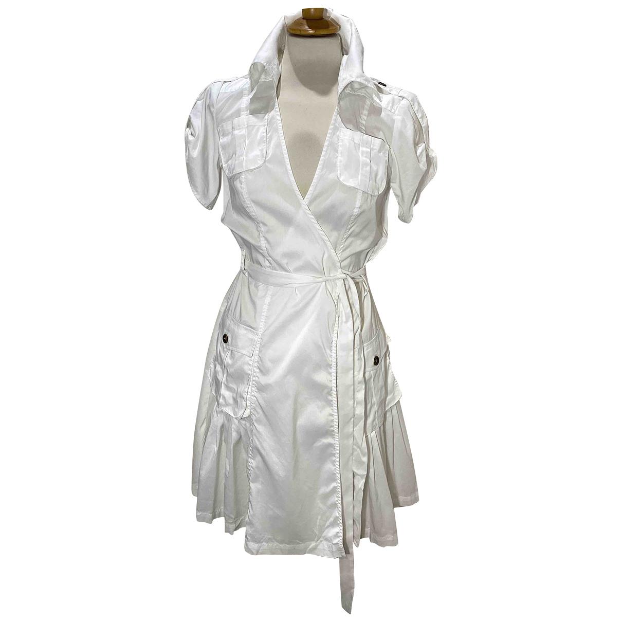 Diane Von Furstenberg \N White Cotton - elasthane dress for Women 8 US