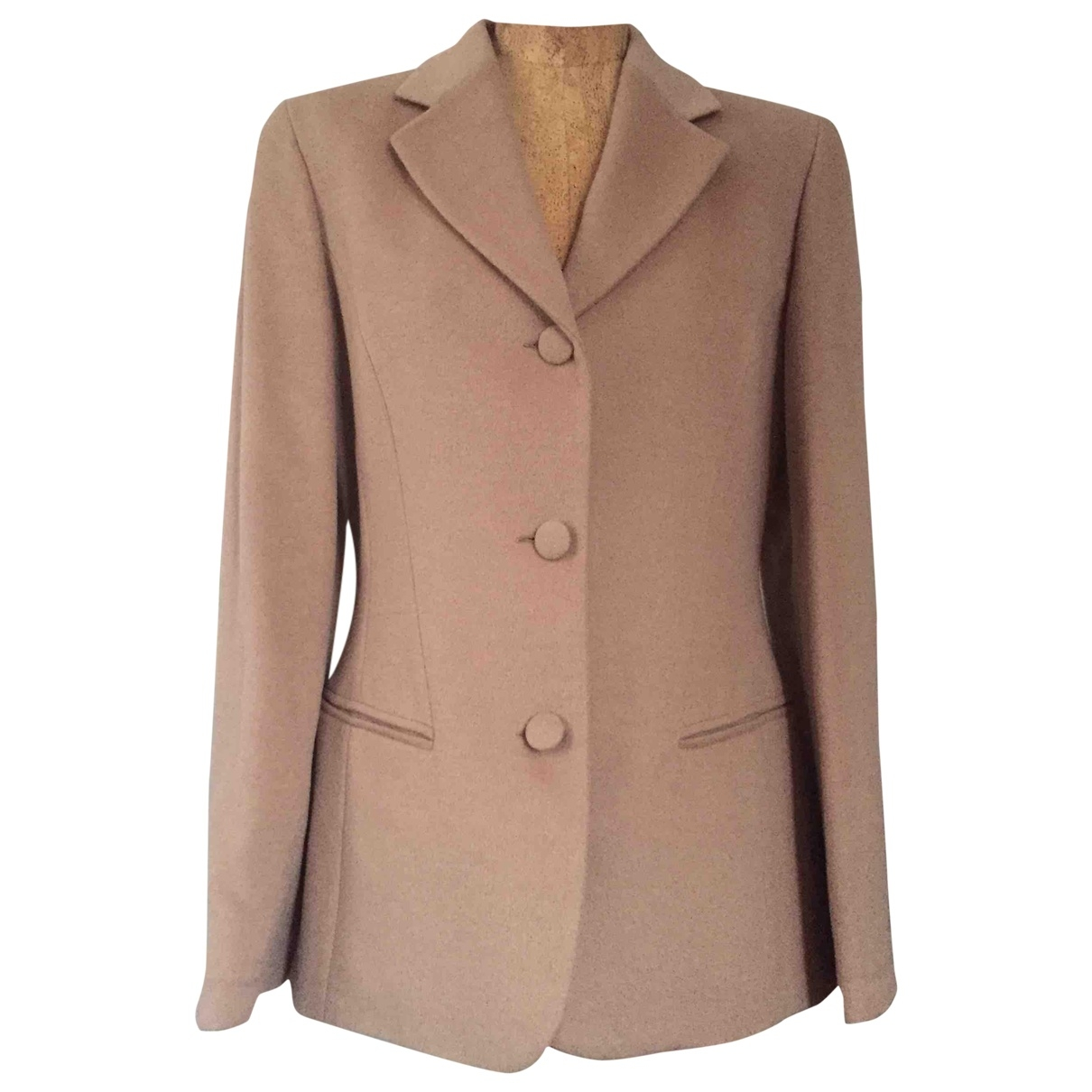 Non Signé / Unsigned \N Camel Wool jacket for Women 42 IT