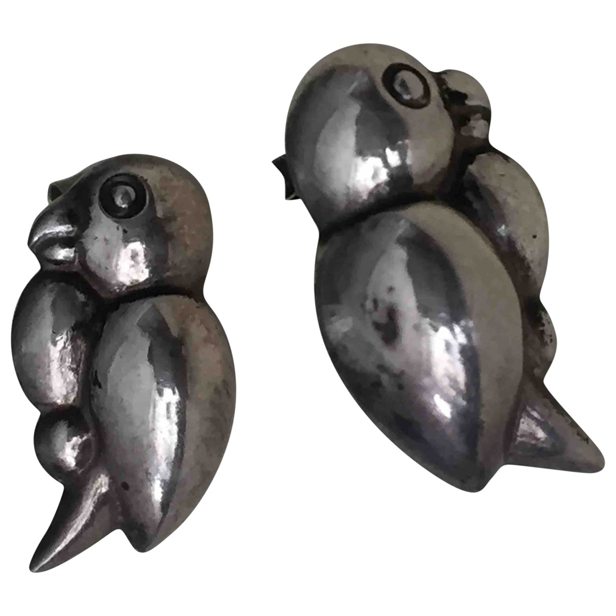 Non Signe / Unsigned Motifs Animaliers OhrRing in  Silber Silber