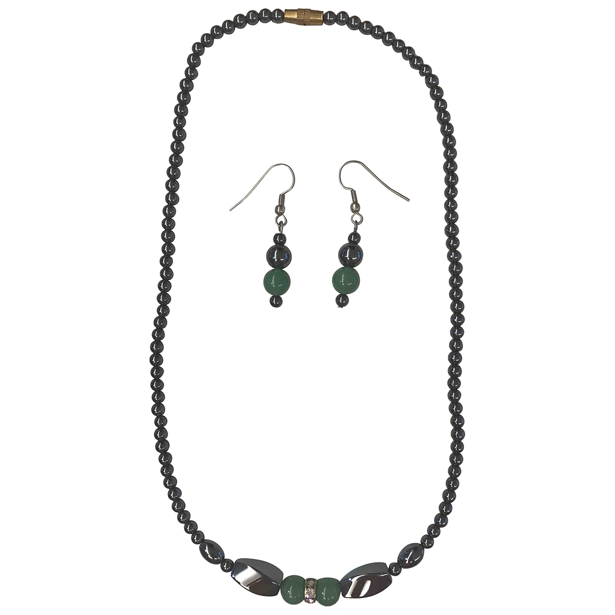 Non Signé / Unsigned \N Anthracite Metal Jewellery set for Women \N