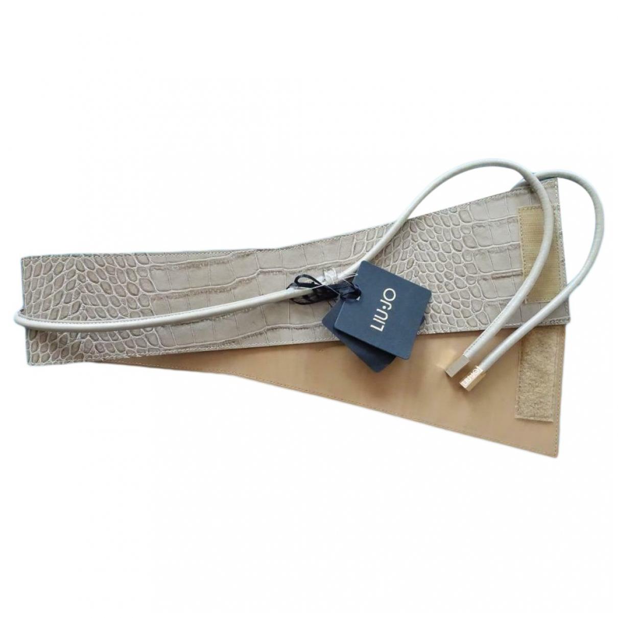 Liu.jo \N Beige Leather belt for Women 90 cm